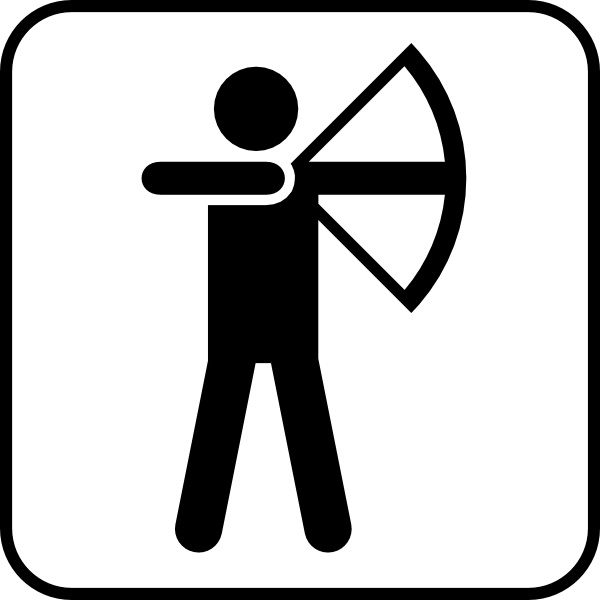 Bow Arrow Sports Land Recreation Symbols Clip Art Free Vector In