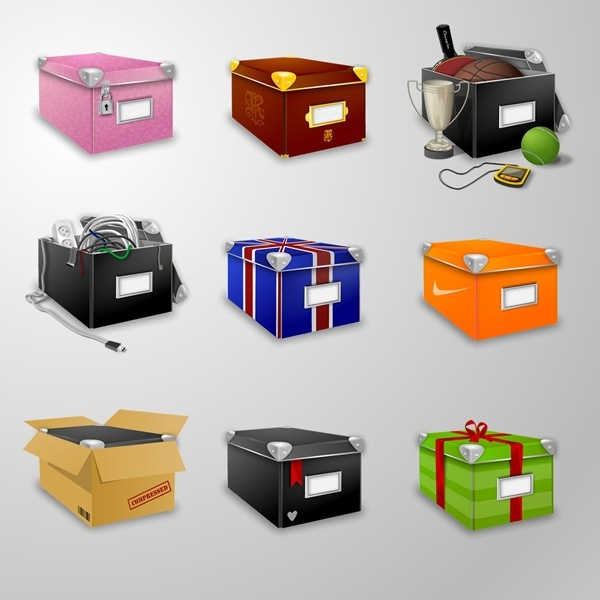 Boxes Icons 2 icons pack