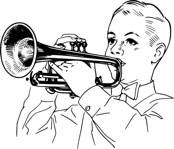 Boy Playing Cornet Clip Art Free Vector In Open Office Drawing Svg