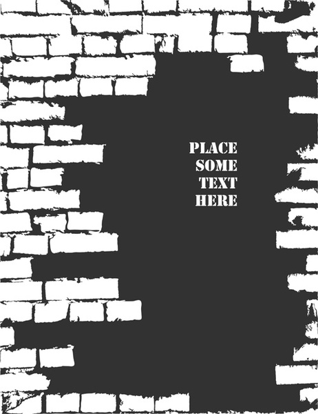 Brick wall object backgrounds vector graphics Free vector in