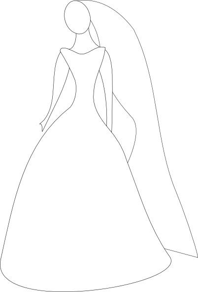 Bride In Wedding Dress Clip Art Free Vector In Open Office Drawing