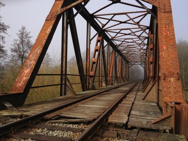 bridge railway rusted