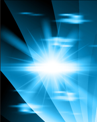 bright blue abstract background art vector