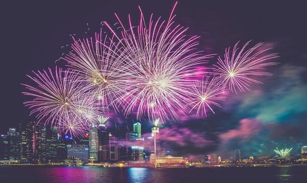 bright burst celebration christmas color eve explode