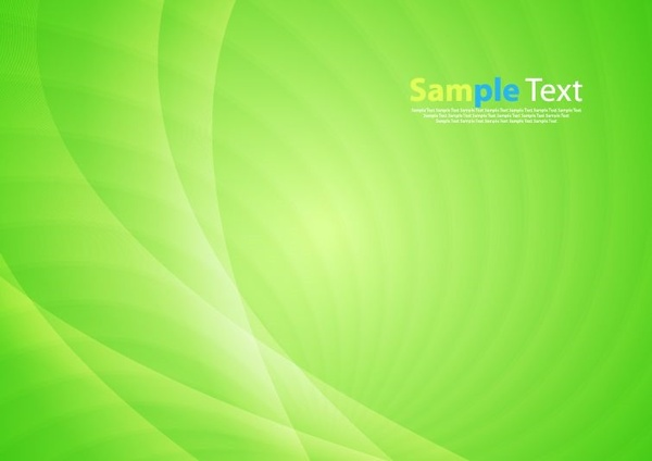 Bright Green Vector Waves Abstract Background Free Vector In