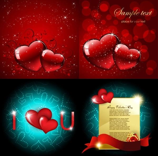 bright love vector