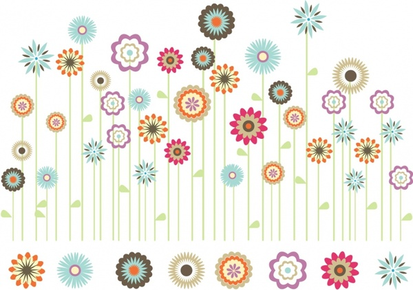 Bright spring flower garden free vector in adobe illustrator ai bright spring flower garden free vector 101702kb mightylinksfo