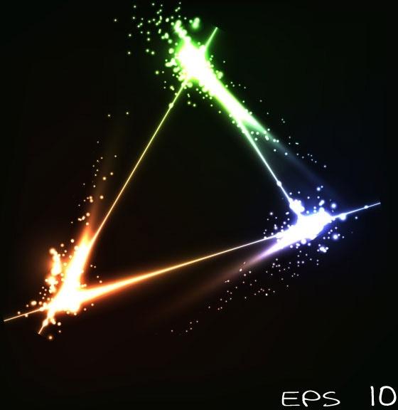 bright stars background 02 vector