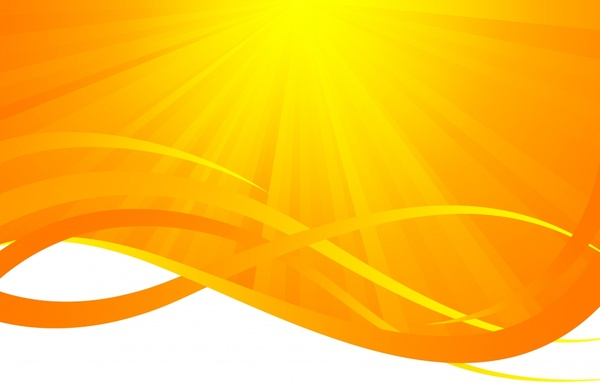 sun rays background vivid yellow design curves ornament
