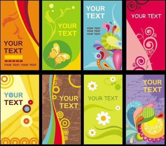 brilliant business card templates vector