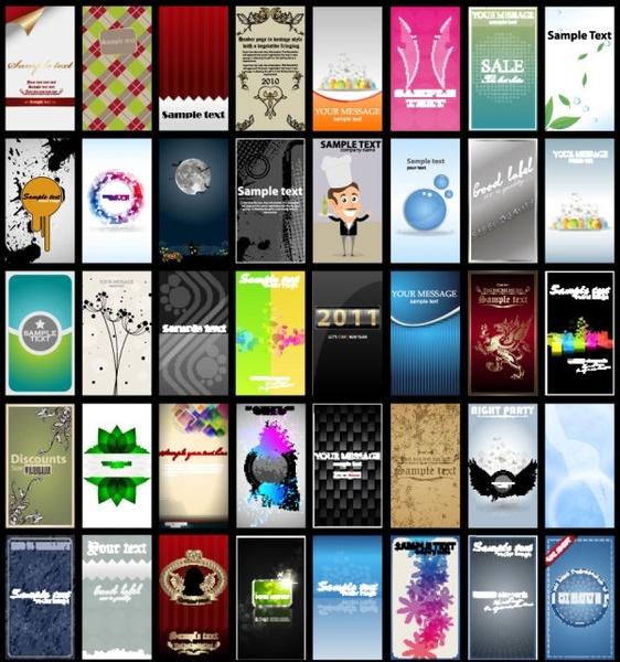 brilliant color business card templates 03 vector