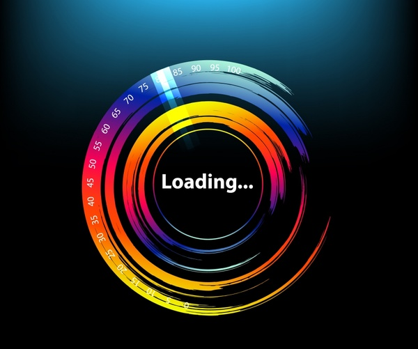 loading background shiny modern colorful circle design