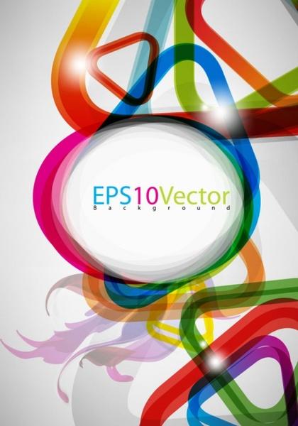 brilliant color circle 02 vector