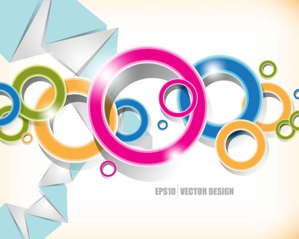 brilliant color circle 05 vector