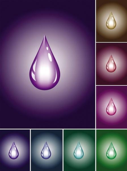 brilliant color drop vector