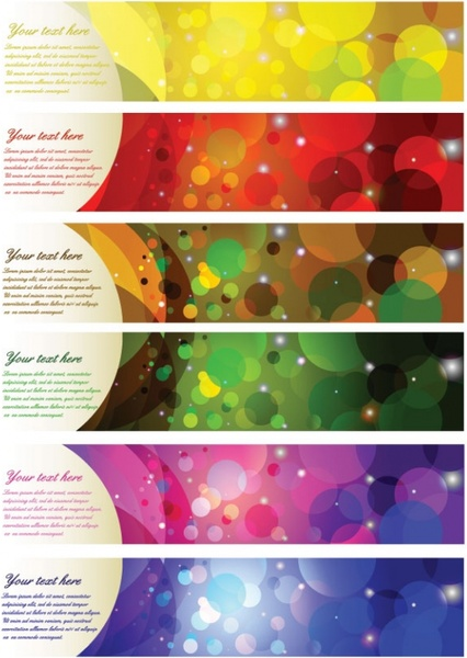 brilliant color halo banner vector