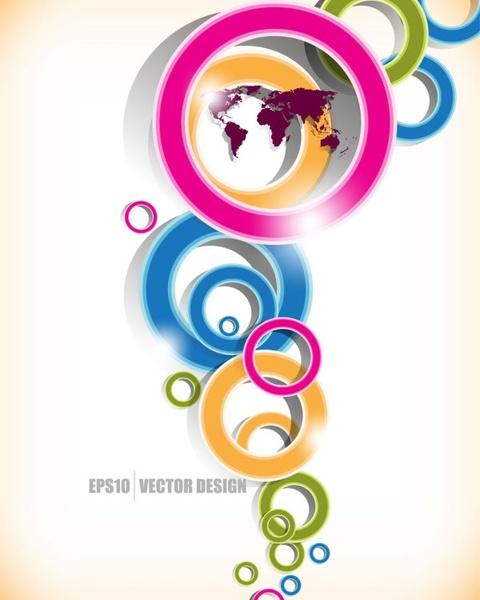 brilliant colored circles 01 vector