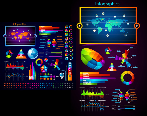 brilliant commercial elements vector graphic