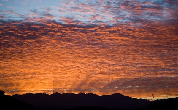 brilliant desert sunrise