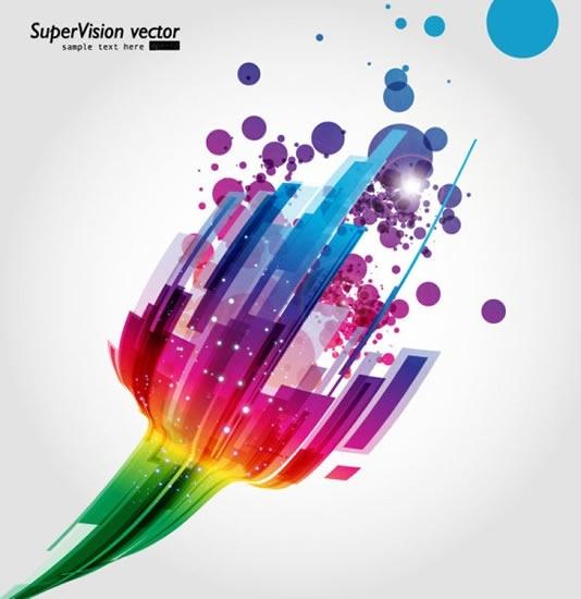 technology background colorful sparkling dynamic 3d decor