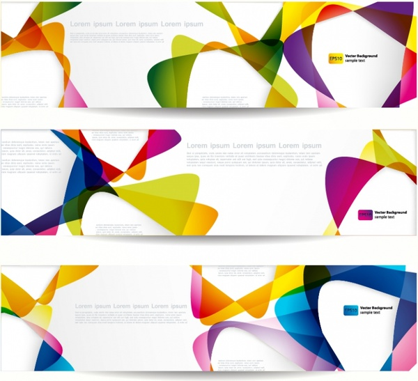 decorative banner templates colorful modern dynamic abstract