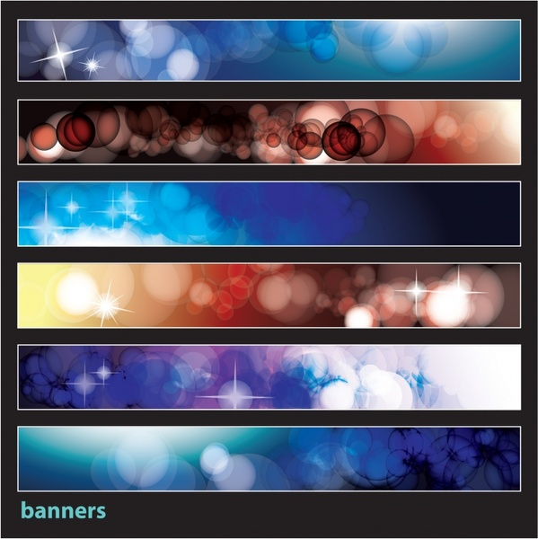 decorative banners templates modern colorful bokeh decor