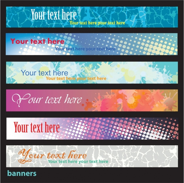 decorative banner templates colorful modern abstract design