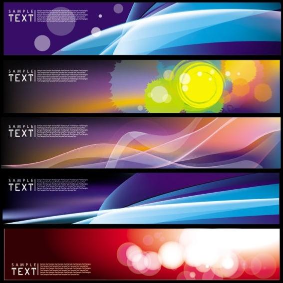 decorative banner templates colorful modern bokeh dynamic design