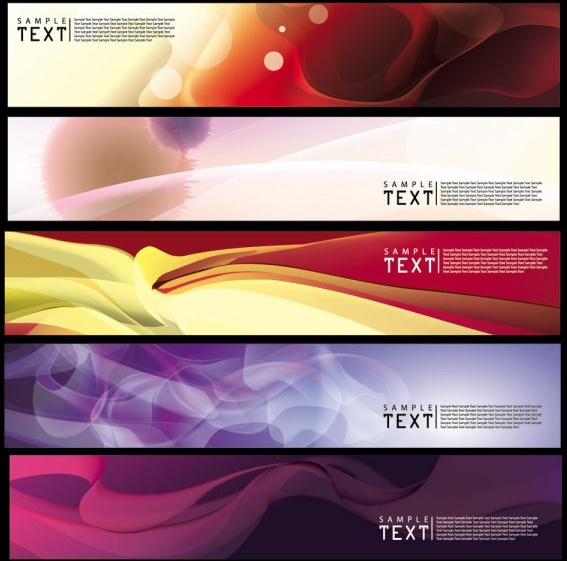 brilliant dynamic banners 03 vector
