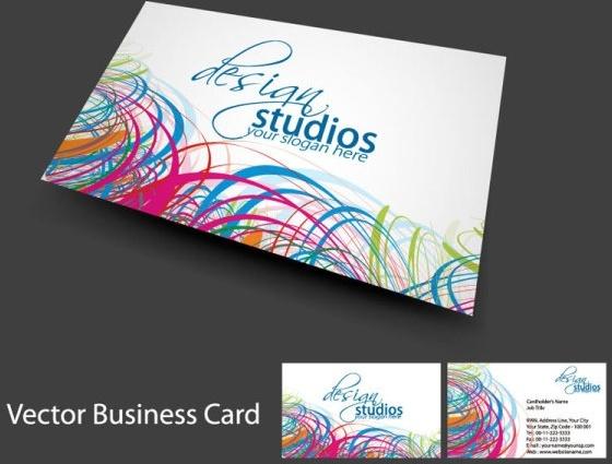 brilliant dynamic business card template 04 vector