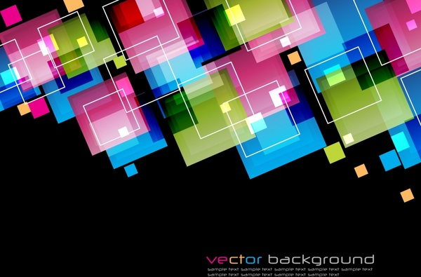 abstract background colorful illusion geometrical squares decor