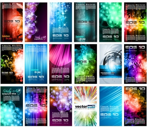 technology background templates modern colorful light effect decor