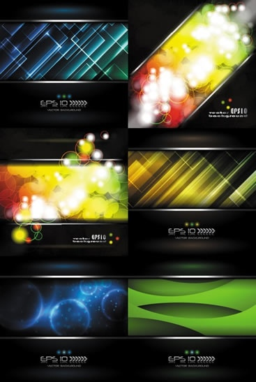 decorative background templates modern colorful bokeh abstract design