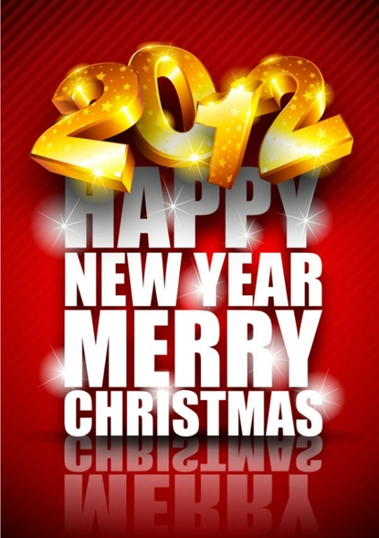 brilliant new year background 02 vector