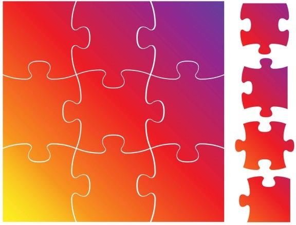 √ Puzzle Vector Free