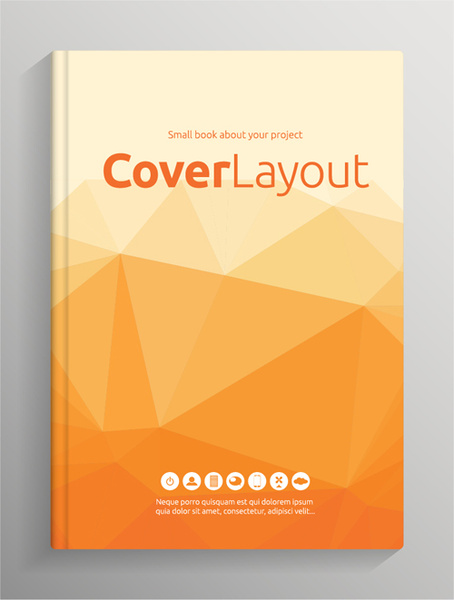 School Book Cover Vector : School book cover page design free vector download