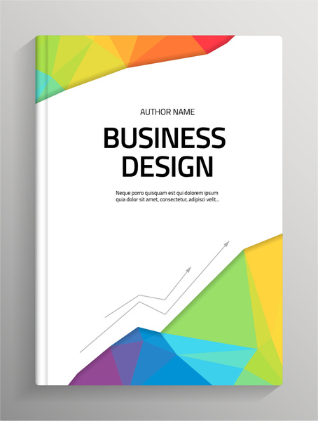 School Project Book Cover ~ Book cover page design free vector download