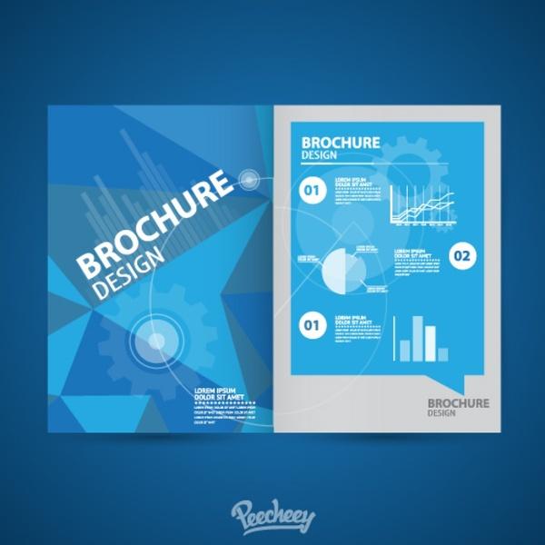 brochure blue style