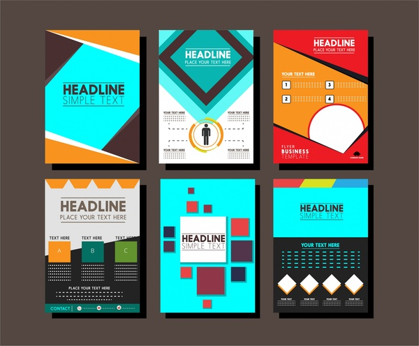 brochure design templates collection layout free vector in adobe