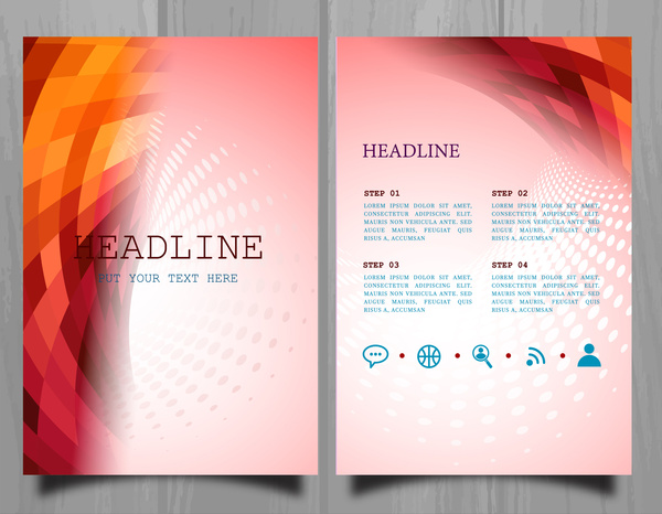 brochure design with colorful abstract light effect style