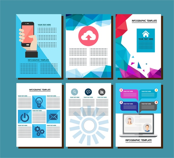 Brochure Design With Infographic Templates Illustration Free Vector