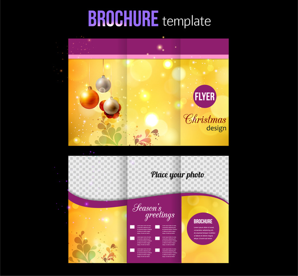 Brochure Template Free Vector In Adobe Illustrator Ai Ai Vector - Brochures design templates