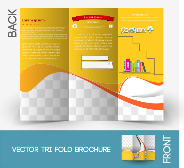 Brochure background design free vector download 49 112 for Four page brochure template