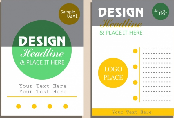 brochure template bright modern design circles ornament
