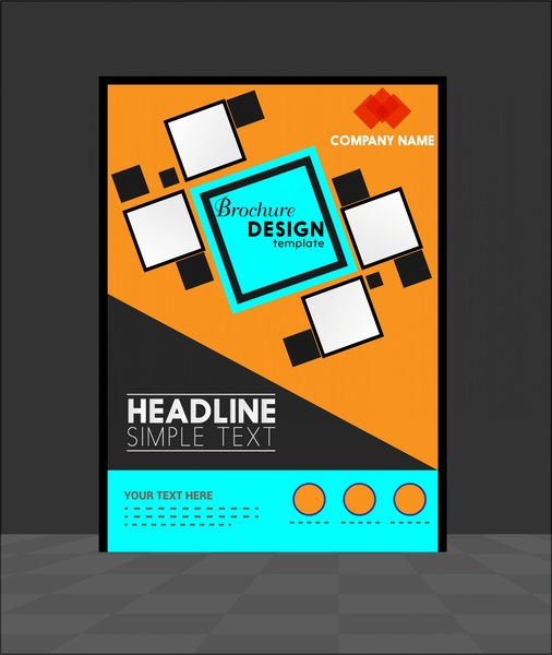 Brochure Template Design Geometric Style Free Vector In Adobe