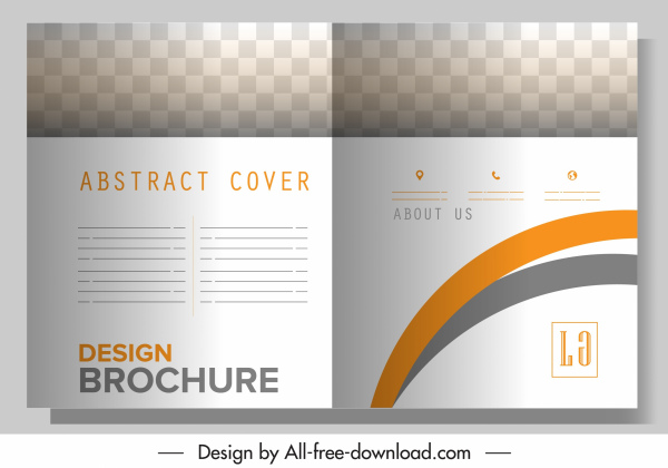 brochure template modern abstract bright checkered plain decor