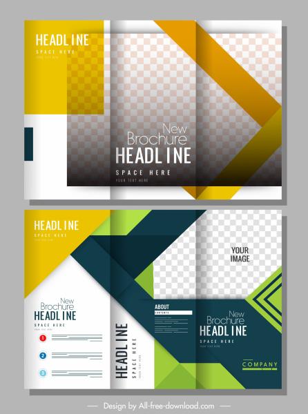 brochure templates modern elegant colorful bright decor