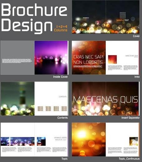 brochure templates modern shiny bokeh light decor