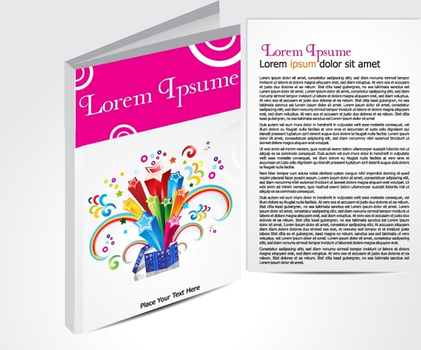 magazine brochure template colored modern 3d dynamic decor