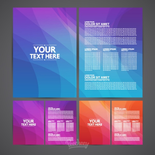 Brochures Template Free Vector In Adobe Illustrator Ai